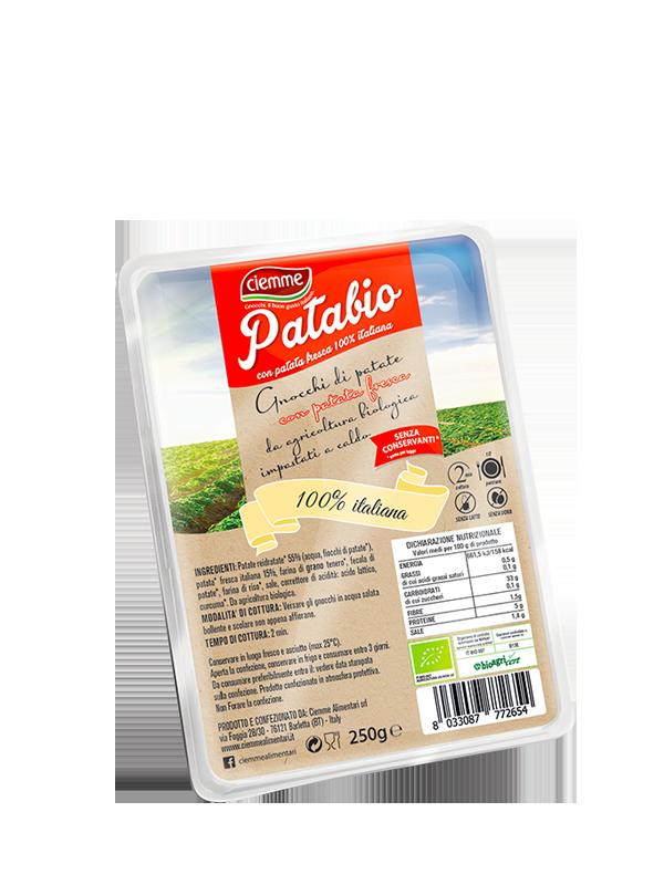 gnocchi con patata fresca italiana Patabio Ciemme Alimentari