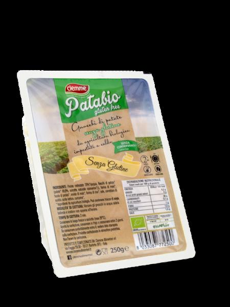 Patabio Gluten Free gnocchi di patate senza glutine, senza latte senza uova con patata fresca italiana